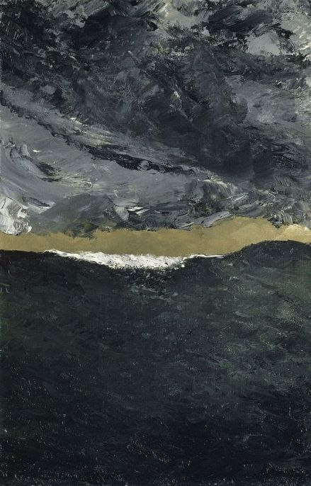 August Strindberg (1849-1912)  Wave VII 1900 and 1901  Oil on canvas