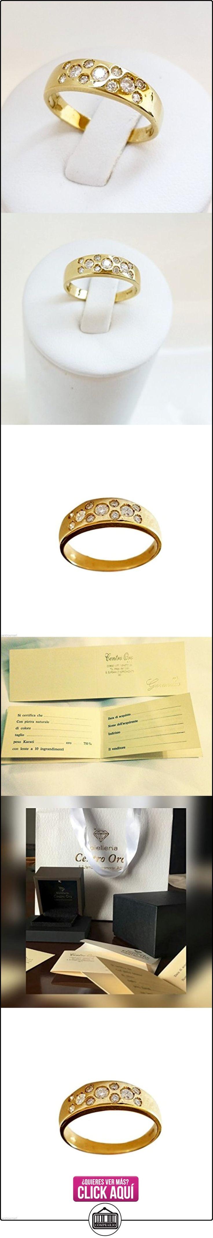 Anillo Alianza Hombre Mujer Oro 18Kt–750con diamantes naturales 0.25ct G- VVS  ✿ Joyas para hombres especiales - lujo ✿ ▬► Ver oferta: https://comprar.io/goto/B01N00YUPW