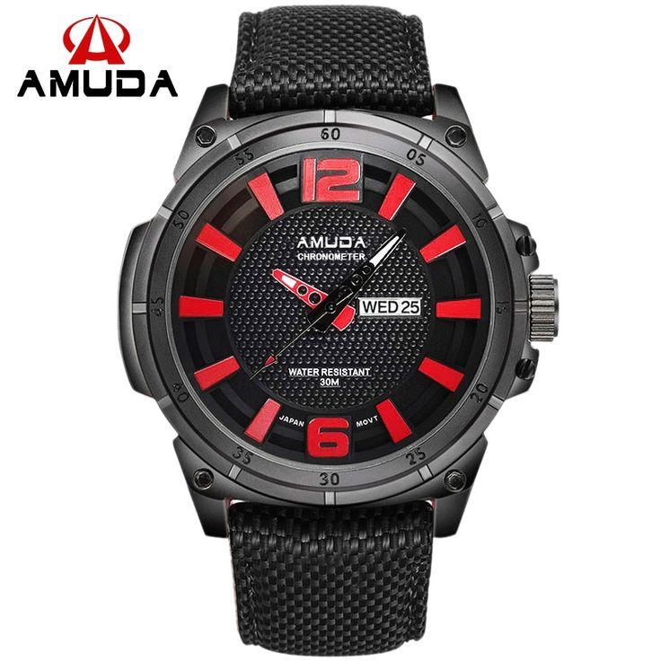 19.94$  Watch now - 2016 Watches Men Luxury Brand AMUDA Men's Military Watch Sports Watches Men Quartz Nylon Strap Wristwatch Clock Male Relogio  #SHOPPING