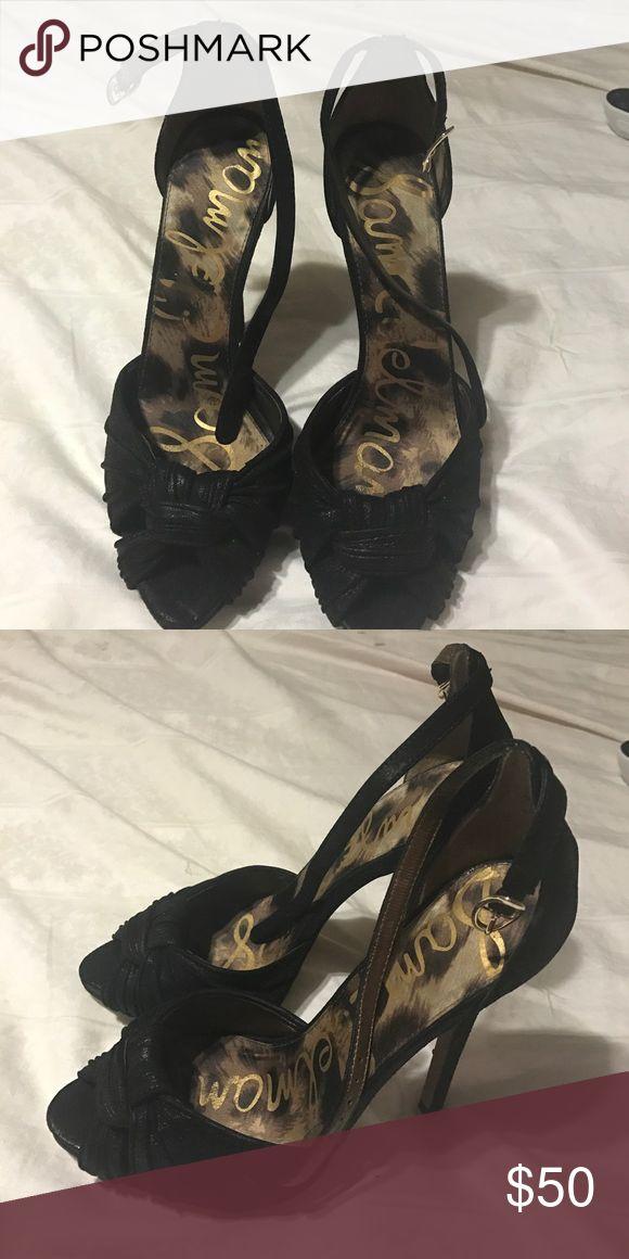 Sam Edelman heels Black gorgeous heels mint condition only worn once! Sam Edelman Shoes Heels