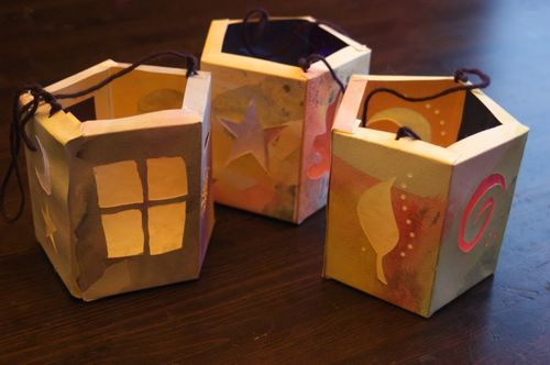 how to make paper lanterns from @Rachel Wolf : : Clean : : LuSa Organics