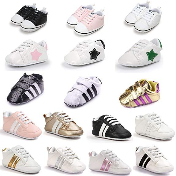 Meckior Fashion Baby Sneakers Infant Baby Boys Girls Soft Sole Prewalker Crib Casual Shoes