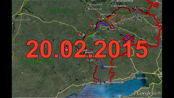 War in Ukraine / Сurrent Front-Line Situation in Donbass (Around town De...