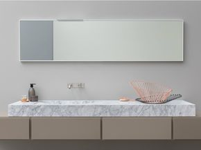 Lavabo sobre encimera rectangular de mármol de Carrara D TAGLIO by Rexa Design   diseño Susanna Mandelli