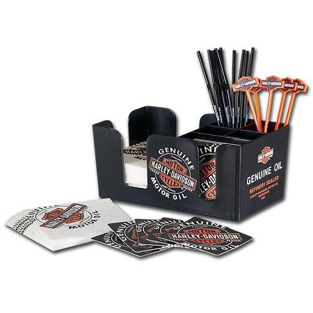 $24.45 Harley-Davidson Oil Can Bar Caddy