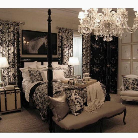 damask bedroom. Interior Design Ideas. Home Design Ideas