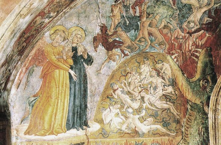 """INVITO in COMMUNITY ARTISTICA CULTURALE Google+Allegato: ANTONIO DI BENEDETTO DEGLI AQUILI detto Antoniazzo Romano    Foto-Affreschi :""""Inferno"""" (1468),Monastero di Tor de' Specchi, Roma.Lazio"""