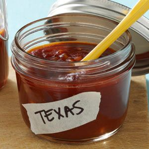 Texas-Style BBQ Sauce.  i substituted a diced chipotle pepper in adobo for the chili powder