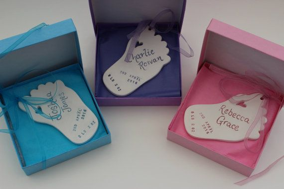 Personalised Baby Gift  Baby Foot