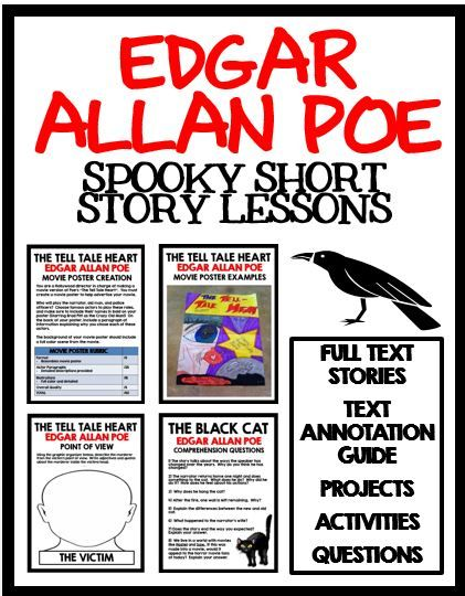 best tell tale heart images teaching ideas edgar allan poe spooky short story lessons for the black cat the raven