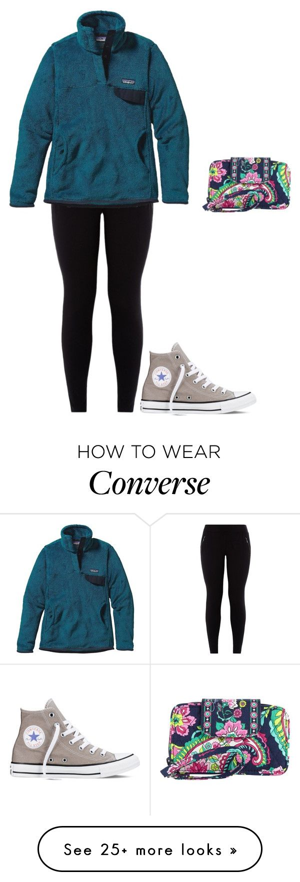 """my Patagonia is currently in illinois "" by jackelinhernandez on Polyvore featuring Patagonia, Converse and Vera Bradley"