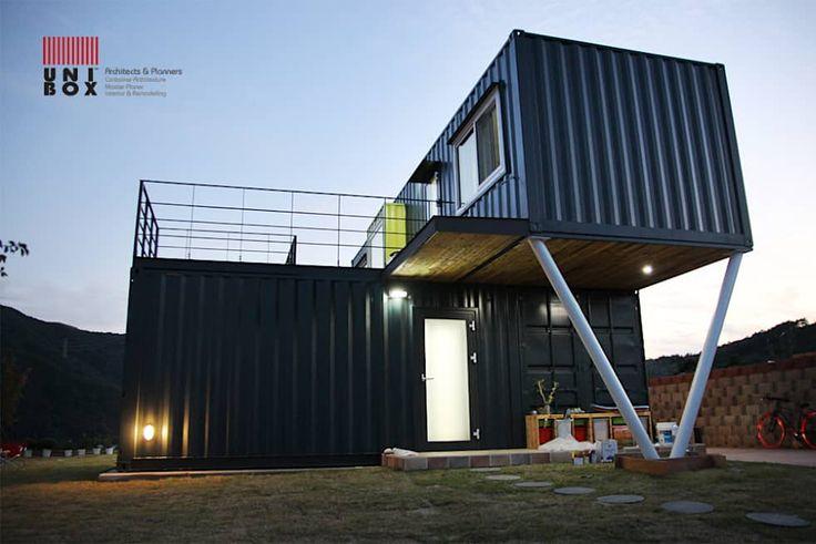 Casas modernas por  (주)감동C&D 유니박스