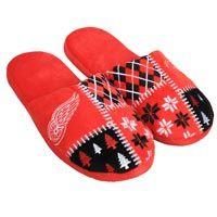 Detroit Red Wings Men's Ugly Sweater Knit Slippers: The Detroit Red Wings Men s Ugly… #nhl #nfl #mlb #nba #sportsjerseys #sportsapparel