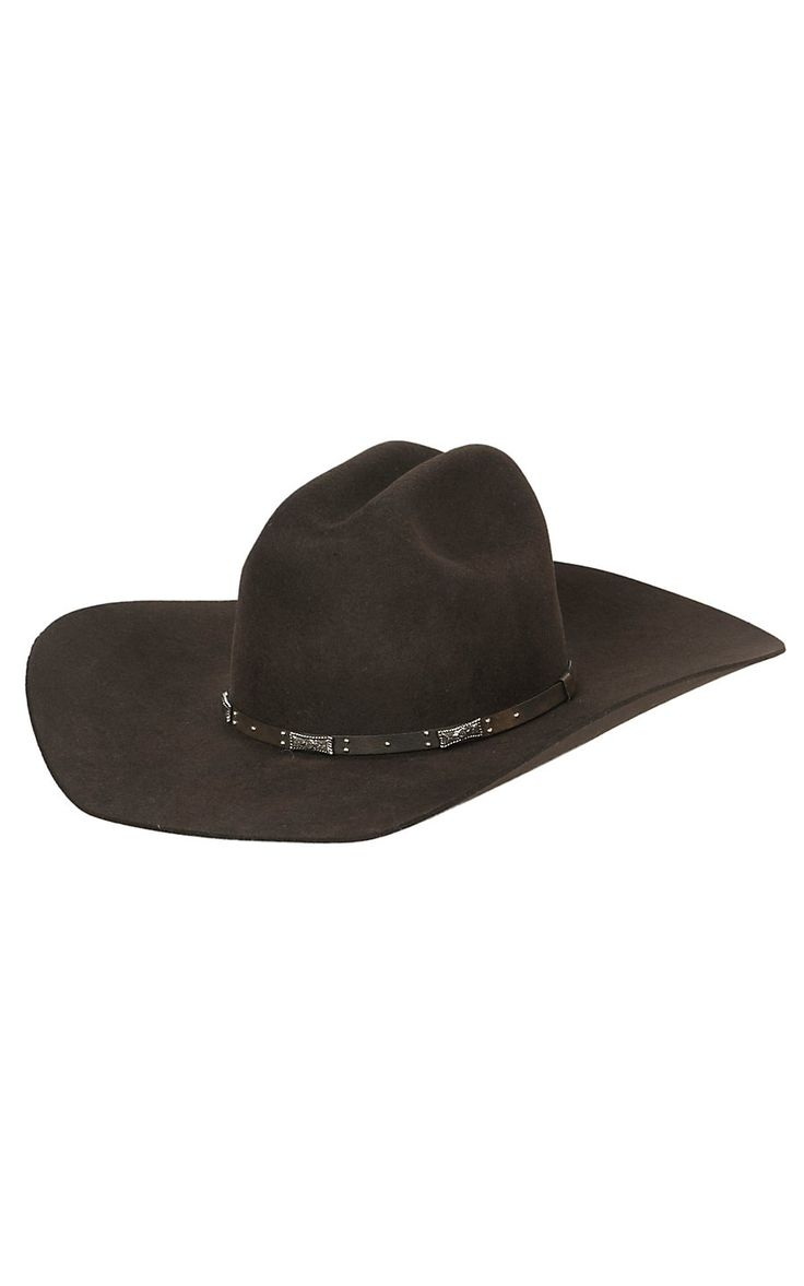 Rodeo King Men S Rodeo X Felt Cowboy Hat Chocolate