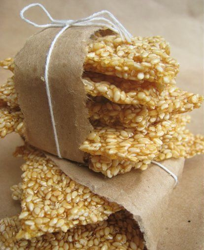 Greek Sesame Snaps (These seem like ttreat a Chinese restaurant used to serve when I was young)