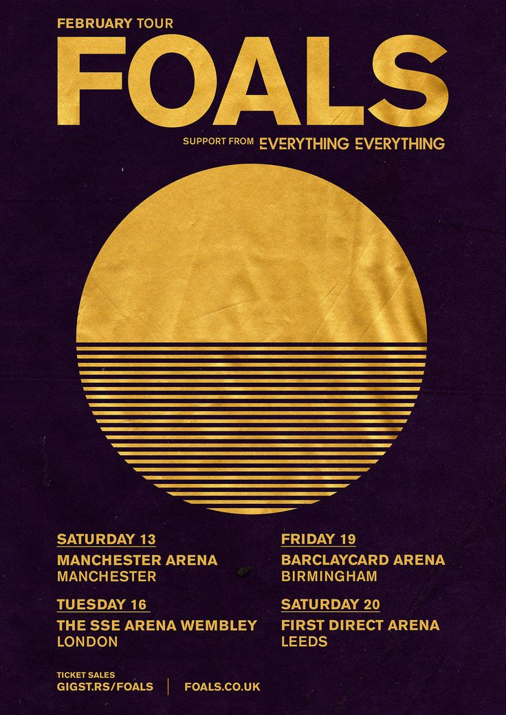 Leif Podhajsky was commissioned by Foals to design the poster art for the band's forthcoming February UK arena tour.
