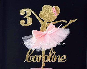 Ballerina pastel Topper - bailarina fiesta decoraciones - decoración de fiesta de bailarina - Ballerina fiesta centro de mesa - bailarina fiesta pastel