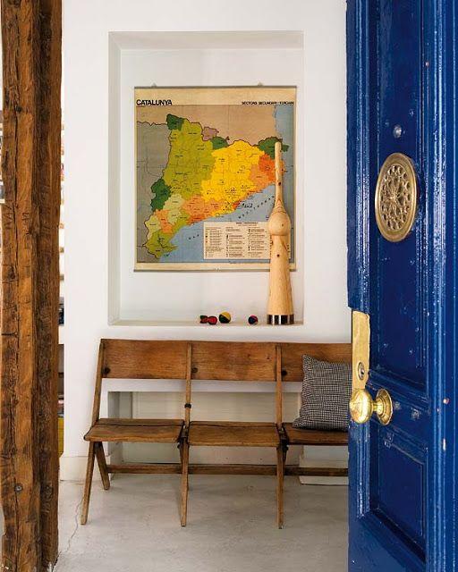 ATELIER RUE VERTE , le blog: A Madrid, un appartement à la décoration éclectique