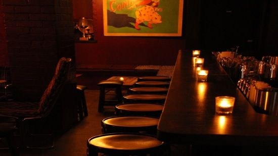 "It is the ideal place to enjoy an intimate and sensual atmosphere, created by the many cushioned benches grouped together, and enhanced by candle-light and blood red walls. Along with the quirky furniture and the comfy atmosphere goes the sophisticated 40s/50s ""rare groove"" music, a very refined blend of obscure jazz, pop, jazz fusion, R&B, soul etc which gives the final touch to the ambience of the place, making it suitable for couples and keen conversationalists."