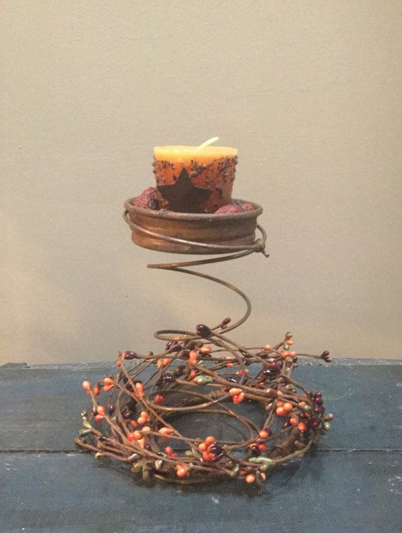 Rusty bed spring candle holder candles by jenascreations45