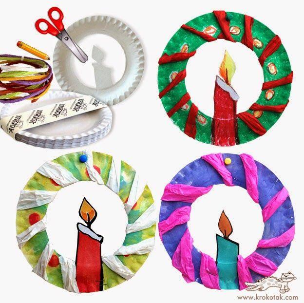 Χριστουγεννιάτικες κατασκευές με πιατάκια
