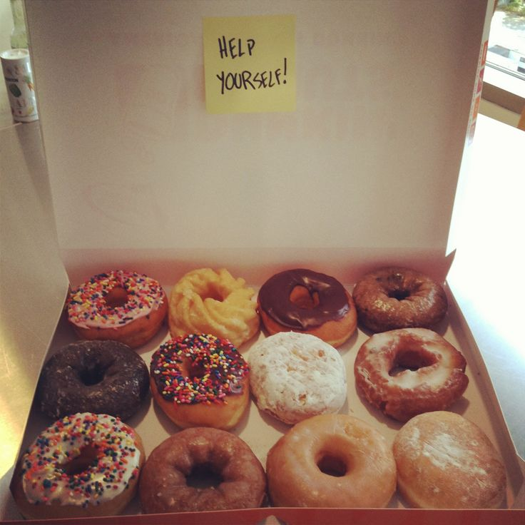 Want to be the office hero? Use the DD mobile app and get $1 off a dozen donuts at a participating DDs! Expires 10/31/13.