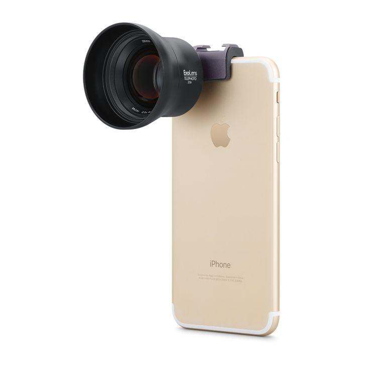 L'objectif grand angle ExoLens avec optique ZEISS Mutar 0,6x AsphT* offre un contraste de bord à bord exceptionnel et une remarquable qualité d'image. Achetez-le dès maintenant sur apple.com.