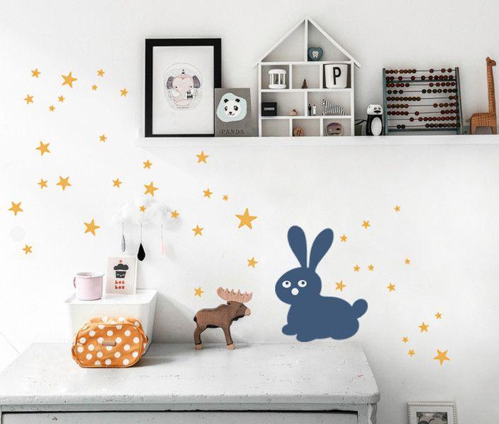 Wandtattoos - Wandsticker STERNE 40er-MIX Set Wandtattoo Sterne - ein Designerstück von UrbanARTBerlin bei DaWanda