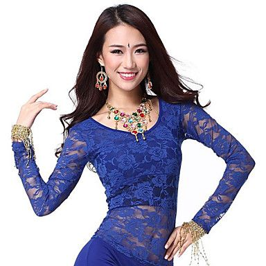 Dancewear Lace Belly Dance Top For Ladies More Colors – USD $ 7.99 - red