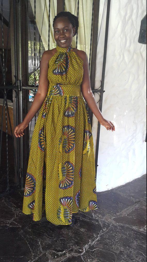 Ankara / afrikanische lange Kleid