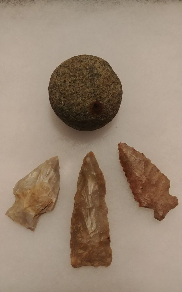 Authentic Indian Artifacts arrowheads relics indian game ball