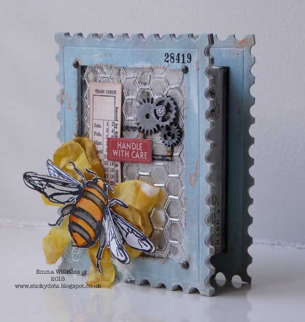 Queen Bee shadowbox created for Simon Says Stamp Monday Challenge blog