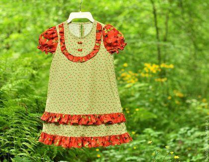 """Одежда для девочек, ручной работы. Платье для девочки """"Вкус лета"""". Светлана Овсейчик. Детские платья. Ярмарка Мастеров. Повседневное платье"""