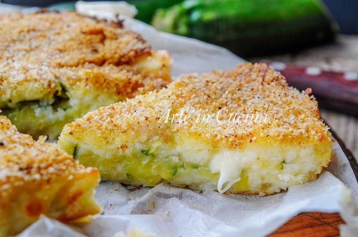 Focaccia morbida patate e ricotta con zucchine filante vickyart arte in cucina