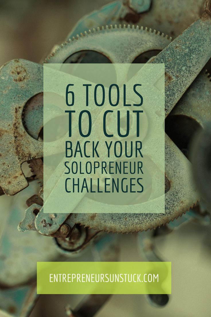 Don't know how to get on top of all your #solopreneur challenges? Take these 6 tools to face them like a boss!