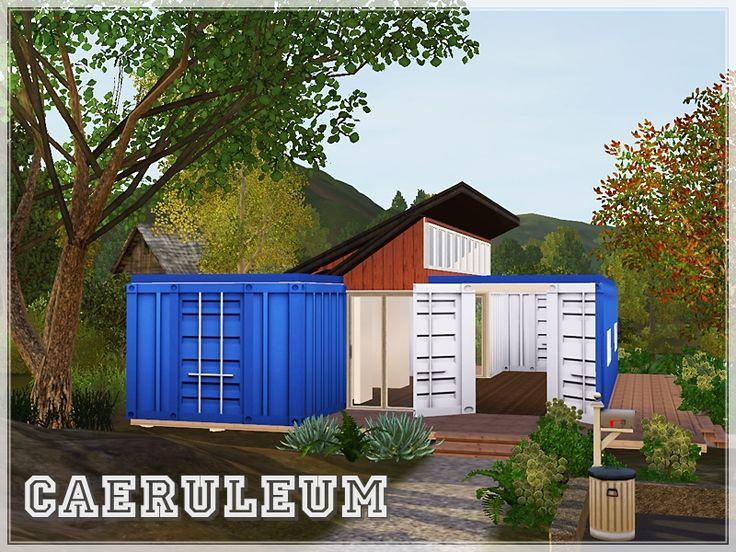 Small shipping container house perfect for one or two sims pretty much an all open plan living - How much are container homes ...