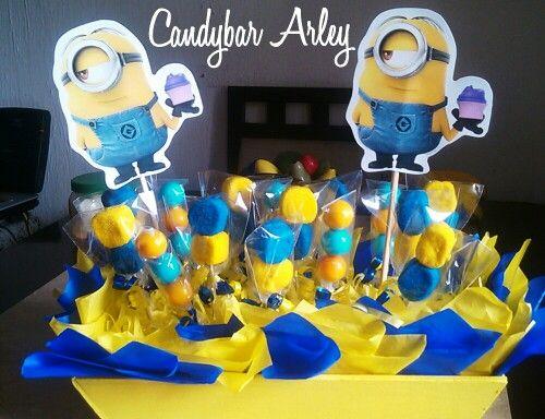 Minion centro de mesa «siguenos por facebook como: Candybar Arley ...