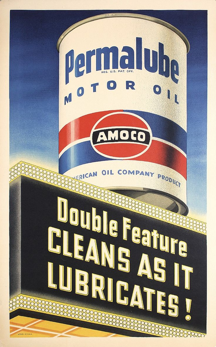 Stunning Original 1940s American Amoco Tire Poster - by PosterConnection Inc.