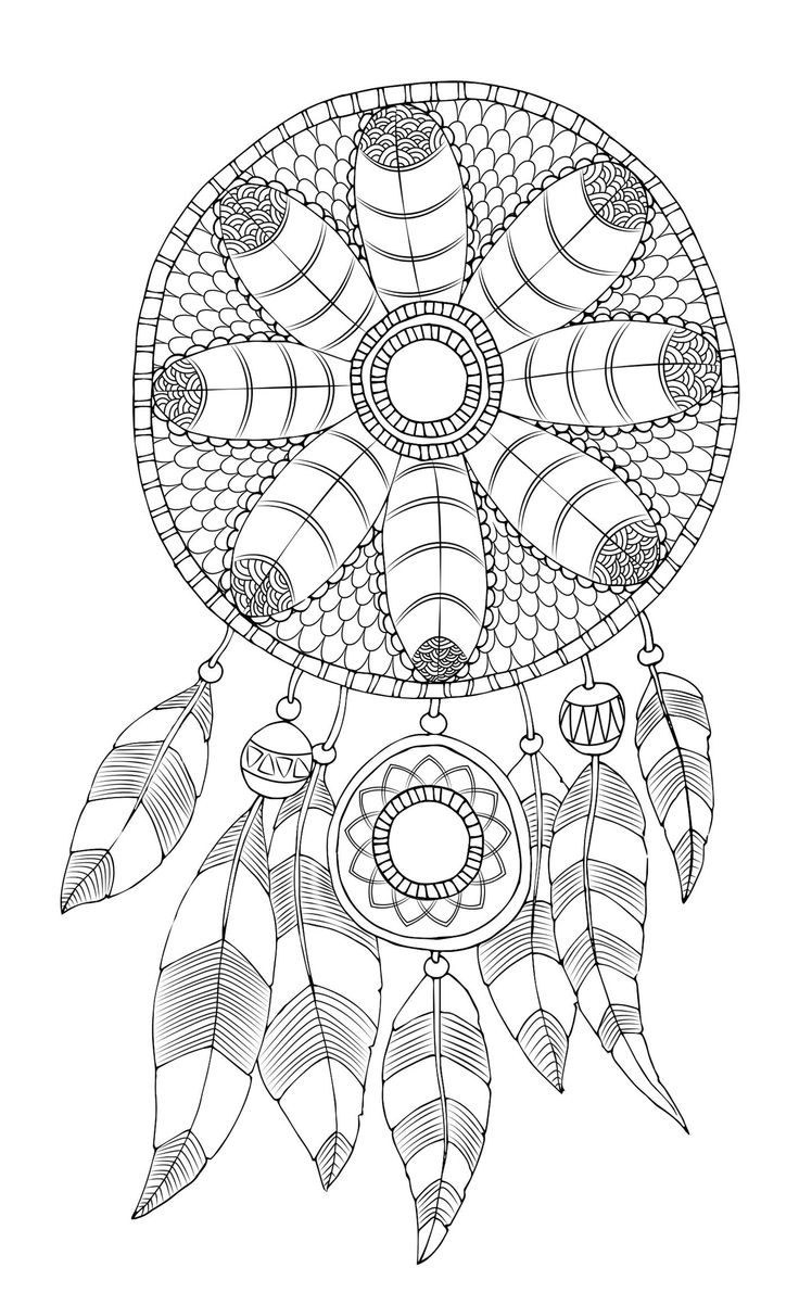 free adult coloring page dreamcatcher - Free Adult Coloring Pages To Print