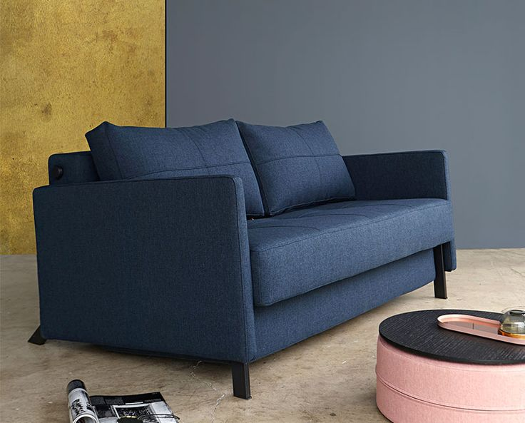 the modern cubed deluxe sofa with arms features an innovative compact sofa bed design with itu0027s modern space saving design this full size sleeper sofa is