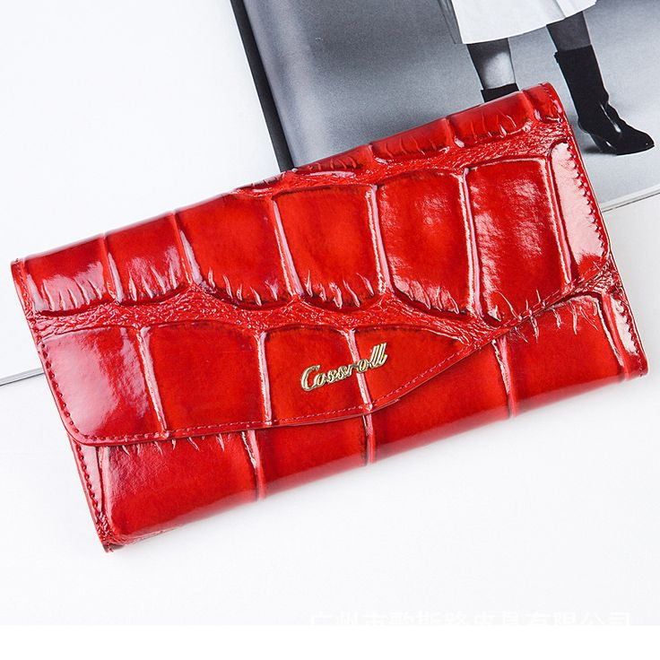 New 3D Crocodile Grain Women Long Wallets Genuine Leather Embossed Design Draw-out Type Female Wallet Clutch Purses Carteira
