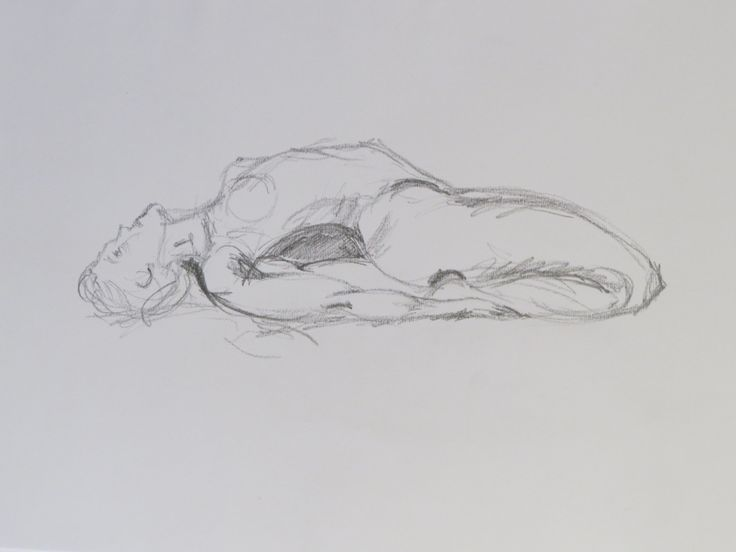 Life drawing 5 minute pose