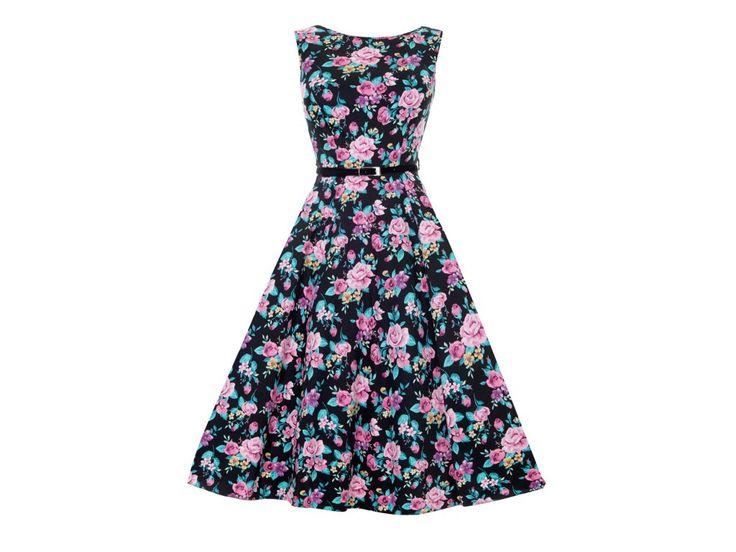 Lady Vintage šaty v populárním retro stylu, který zvýrazní ženské křivky.
