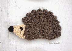 H is for Hedgehog: Crochet Hedgehog Applique - Repeat Crafter Me