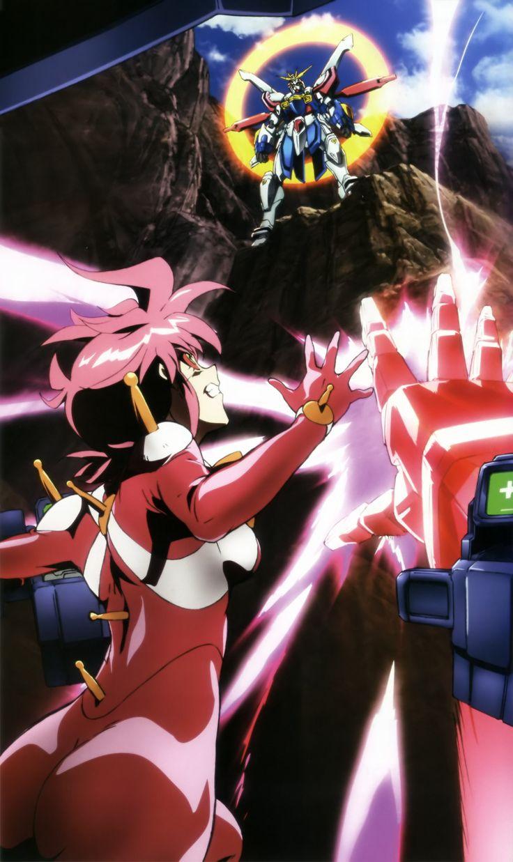 Allenby Beardsley, Nobel Gundam, Domon Kasshu, and Burning Gundam