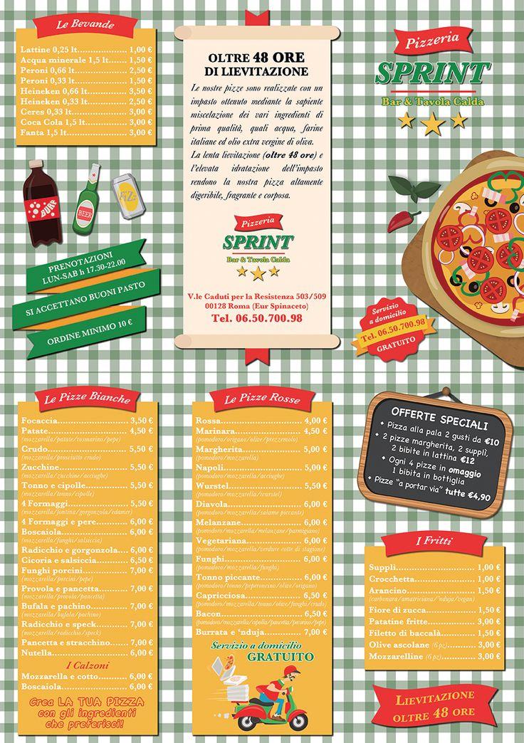 Logo e Brochure in/out Pizzeria Sprint