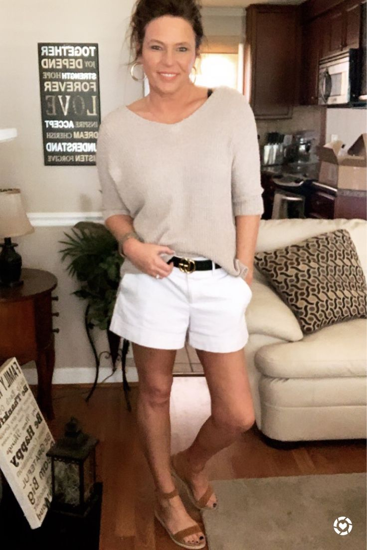 Beige and white never gets old. Love these Lucky Brand espadrilles with this outfit!! Perfect height for running errands or in the weekend. You can instantly shop my looks by following me on the LIKEtoKNOW.it app @liketoknow.it
