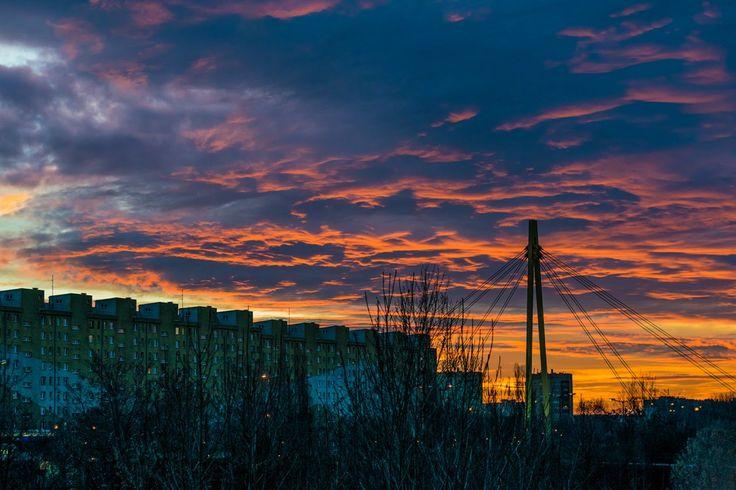 Kraków, Prądnik Biały, Winter Sunset www.fgawronski.com