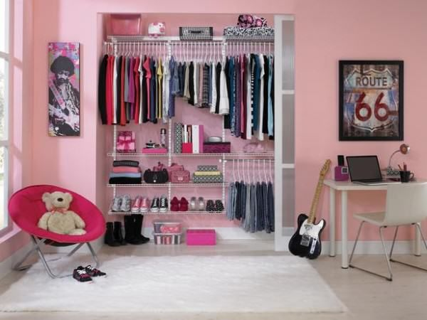 Designing Cute Pink Closet in the Teen Girls Bedrooms - Comfortable Home Design
