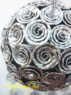 Tutorial Christmas ball covered with coffee capsules recycled . Italian site but…